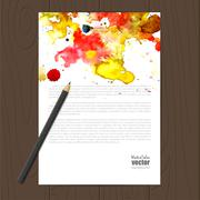 Vector corporate identity template Stock Illustration