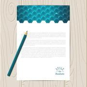 Vector corporate identity template - stock illustration