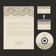 Vector lace ornament background - stock illustration