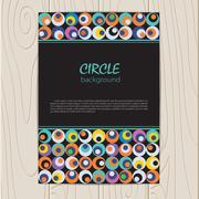 Vector retro circle corporate identity - stock illustration