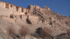 Buddhist Monastery in Northern India Stock Footage