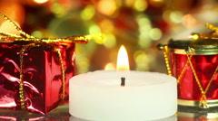 christmas decoration close-up seamless loop - stock footage
