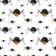 Vector halloween spider seamless background. Eps10 - stock illustration