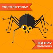 Vector halloween spider background. Eps10 Stock Illustration