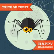 Vector halloween spider background. Eps10 - stock illustration
