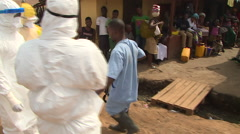 Ebola Body Recovery Teams in Sierra Leone Stock Footage