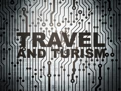 Travel concept: circuit board with Travel And Turism Stock Illustration