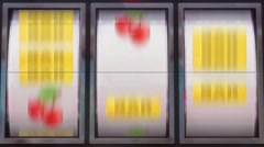 Slots Machine Vj Loops Casino Animation Background Stock Footage