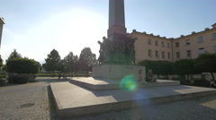 Czechoslovak Legion monument in Prague Stock Footage
