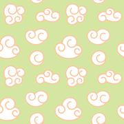 Vector retro seamless clouds backgroung - stock illustration
