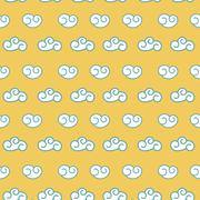 Vector retro seamless clouds backgroung Stock Illustration