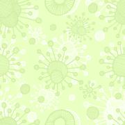 Vector  bacterial background. Eps10 Stock Illustration