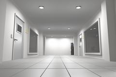 Corridor Stock Illustration