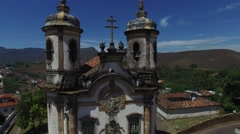Church of Saint Francis of Assisi in Ouro Preto, Minas Gerais, Brazil Stock Footage