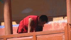 Buddhist Monk Everyday Life - stock footage