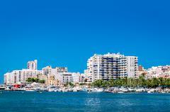 Waterside view to San Antonio de Portmany harbor Kuvituskuvat