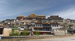 The Ganden Sumtsenling Monastery Shangri-La China - stock footage