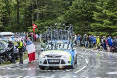 The Car of NetApp-Endura Team - Tour de France 2014 - stock photo