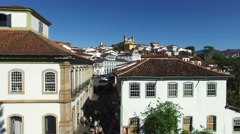 Aerial view of Ouro Preto in Minas Gerais, Brazil Stock Footage