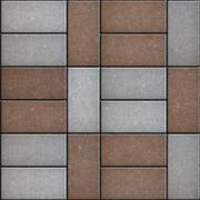 Two-tone Rectangular Pavement. Seamless Texture Stock Illustration