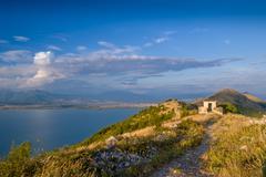 Mountain peaks on Montenegro and Albania border Stock Photos