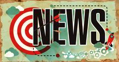 News - Word on Grunge Poster - stock illustration