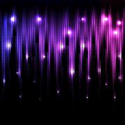 Vector abstract glowing disco background - stock illustration