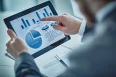 Presentation of data Stock Photos