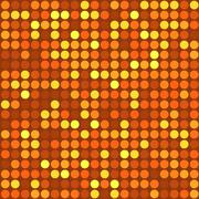 Vector seamless orange mosaic pattern - stock illustration