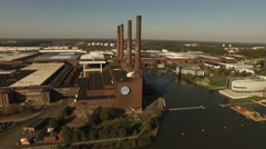 The VW factory in Wolfsburg Stock Footage