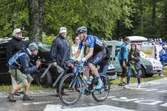 The Cyclist Zakkari Dempster - Tour de France 2014 - stock photo