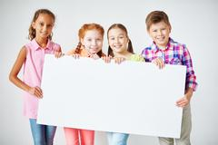 Announcing new school year - stock photo