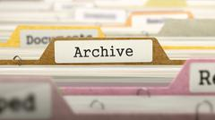 Stock Illustration of Archive Concept on File Label