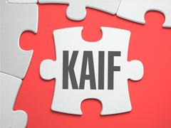 Kaif  - Puzzle on the Place of Missing Pieces - stock illustration
