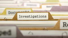 Investigations Concept on Folder Register Stock Illustration