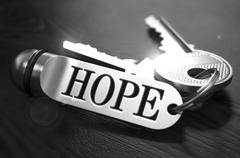 Stock Illustration of Hope Concept. Keys with Keyring
