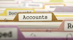 File Folder Labeled as Accounts Stock Illustration