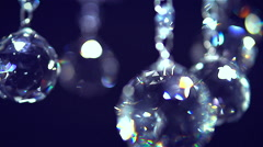 crystal chandelier shot with blurred focus. full HD 1080 video footage. - stock footage