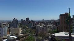 Aerial View of Praca da Bandeira, Belo Horizonte, Brazil - stock footage