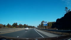 Driving POV dashcam video from cottage country highway 11 in Muskoka Ontario Stock Footage