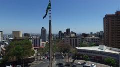 Aerial View of Praca da Bandeira, Belo Horizonte, Brazil Stock Footage