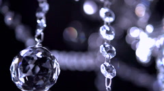 Crystal chandelier shot with blurred focus. Stock Footage
