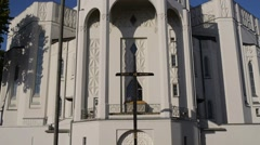 Church of St. Roch in Bialystok Stock Footage