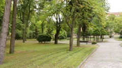 Bishops Palace in Lomza, Poland Stock Footage
