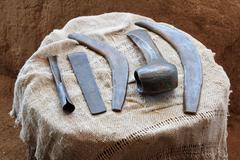 Household tools, bronze age - stock photo