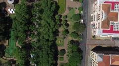 Aerial view of Praça da Liberdade, Belo Horizonte, Minas Gerais, Brazil Stock Footage