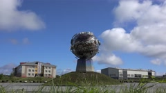 Types of Khanty-Mansiysk. Monument to the Conquerors of Space (The Atmosphere) Stock Footage
