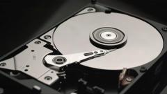Disassembled hard disk drive reading head Stock Footage