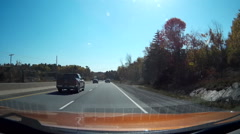 Stock Video Footage of Driving POV dashcam video from cottage country highway 11 in Muskoka Ontario