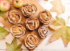Apple rose cakes Stock Photos